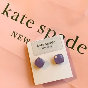 NEW ♠️ KS NY Lilac Small Square Stud Earrings